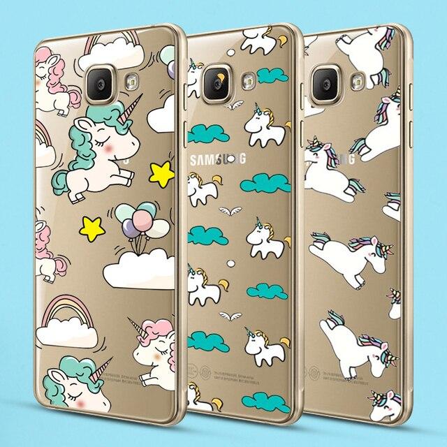 Unicorn for iPhone X 8 7 5 5C 5S SE 6 6S Plus Case for Samsung Galaxy S5 S6 S7 Edge S8 Plus J3 J5 J7 A3 A5 2016 2017 Prime