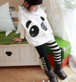 [Bosudhsou.] #D-1 Girls Classical Zebra Bow Skinny Pants Casual Kids Black White Stripes Trousers Children Clothing Design 3-7Y