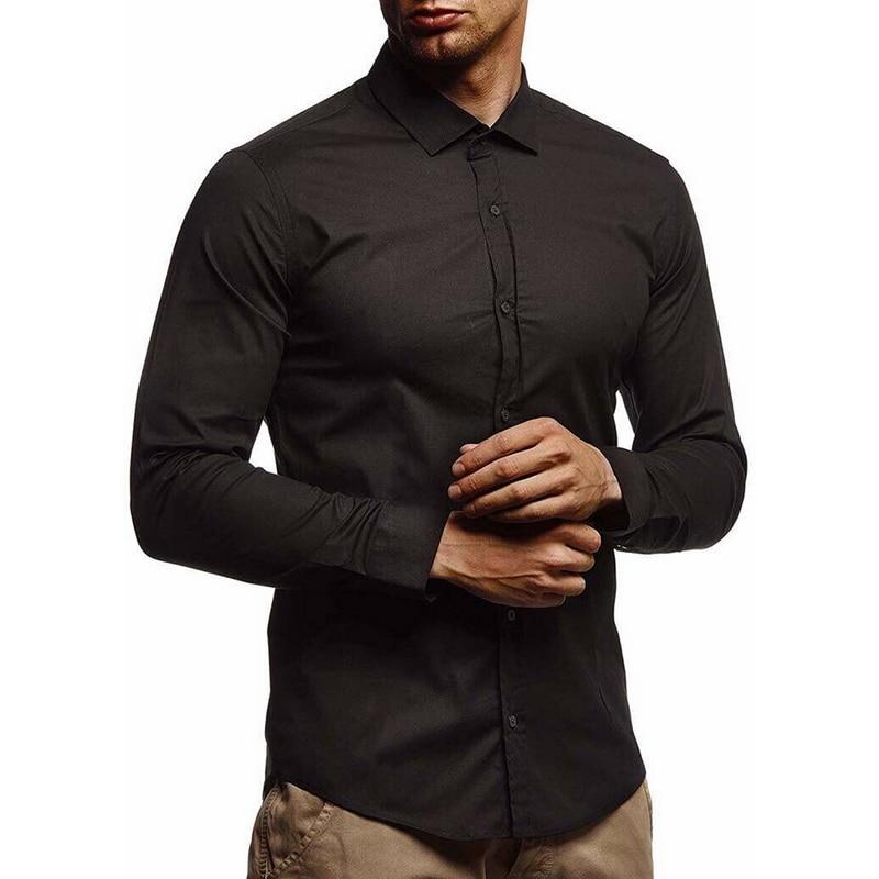 Litthing 2019 New Mens Shirts Camisa Masculina Long Sleeve Shirt Men  Slim Fit Design Formal Casual Male Dress Shirt Size M-3xl