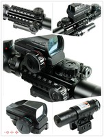 Riflescope Combo 4 12X50EG Tactical Rifle Scope With Holographic 4 Reticle Sight Red Laser Combo Airsoft