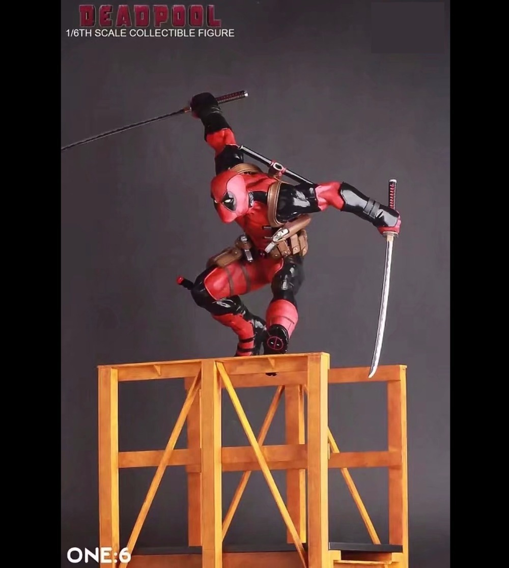 Free Shipping 12 X-MEN Hero The Deadpool Hurdles CT Ver. Boxed 30cm PVC Action Figure Collection Model Doll Toy Gift naruto kakashi hatake action figure sharingan ver kakashi doll pvc action figure collectible model toy 30cm kt3510