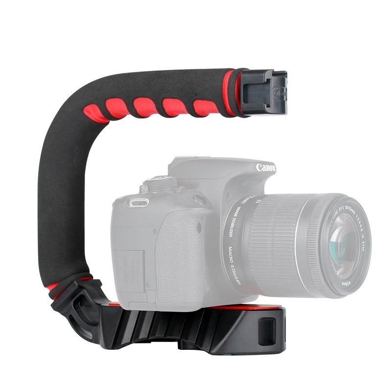 U-Grip Handheld Smartphone Video Rig Triple Cold Shoe Steadicam Stabilizer  for Nikon Canon Sony A7 A9 DSLR Videomakers Vlog