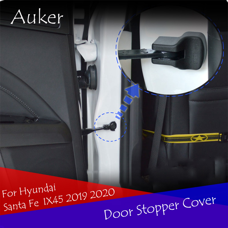 Car Styling Door Stop Cover Exterior Car Door Stopper Protection Cover 4Pcs/Set For Hyundai <font><b>Santa</b></font> <font><b>Fe</b></font> IX45 <font><b>2019</b></font> 2020 image