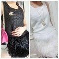 Rooster hackle pluma mini falda longitud, totalmente de doble capa forrada de tela, 8 tamaños disponibles, # SKT022
