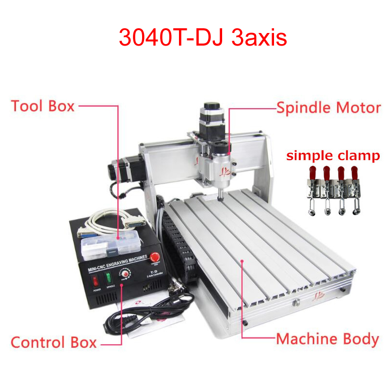 3axis Mini DIY CNC Router machine 300*400mm working area with  ER11 Collect3axis Mini DIY CNC Router machine 300*400mm working area with  ER11 Collect
