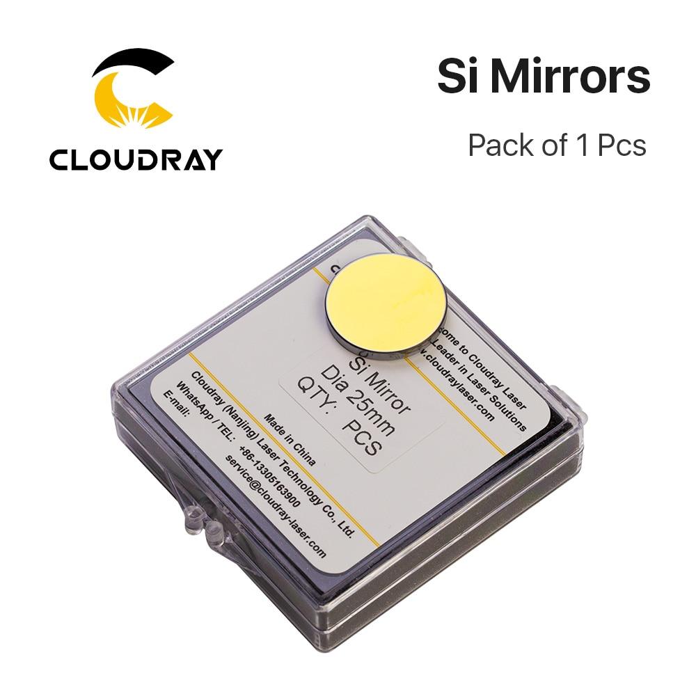 Cloudray Espejo reflectante Si de alta calidad D19.05 20 25 30 38.1mm Recubierto de oro para CO2 Máquina de corte y grabado láser