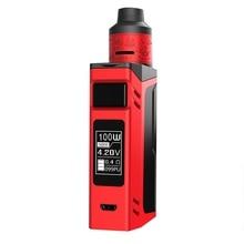 Vape X9 Kit 100W 6Ml Rdta Tank 2600Mah Electronic Cigarette Starter Kit With Screen Battery Vaporizer