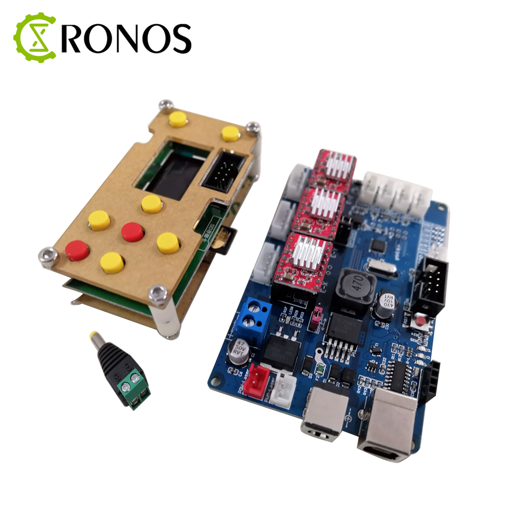 GRBL Offline Working Controller LCD Screen+3 Axis Control Board For Laser Engraving Machine Wood Router Free Shipping