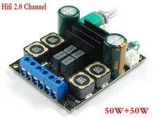 DC 12 В 24 В TPA3116 D2 Hifi 2,0 каналов 50 Вт + 50 Вт стерео аудио цифровой усилитель мощности плата