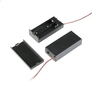 Image 4 - 2*18650 電池ボックスケースホルダーシリーズバッテリー収納ボックススイッチ & カバーdcプラグのための 2 × 18650 diy電池ホルダー