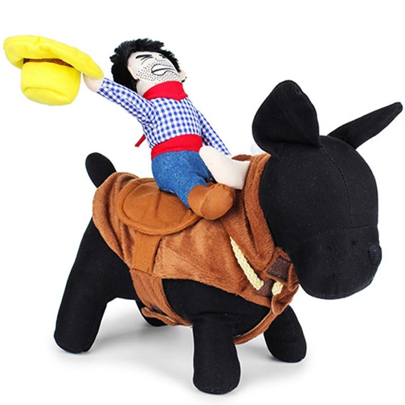 Rolig hunddräktdräkt Cowboy Nyhetskläder Kläder för hundar Ridningshäst Kläder Outfit Husdjur Hunddräktsparty Kostym 45S1