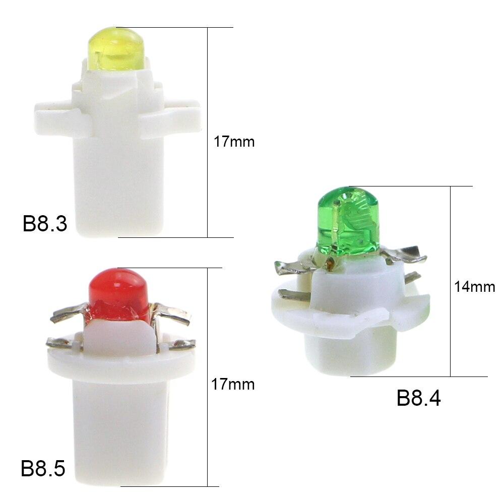KEIN 10PCS b8.4 led car Light cob b8.4d B8.5 B8.3 509t Dash Board Instrument panel lamp Dashboard Warning Indicator Signal Bulb
