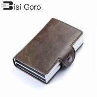 BISI GORO 2019 винтажный бизнес 2 алюминиевый кошелёк для кредитных карт держатель Чехол-портмоне для карточек ID металлический держатель для кред...