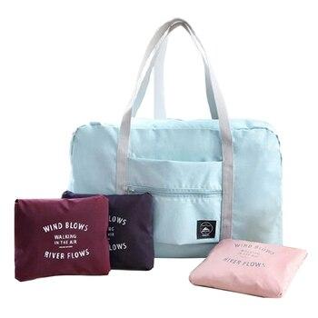 d184c70feaa8 Дорожная сумка-Органайзер на одно плечо большая емкость багажная упаковка  дорожная складная сумка для хранения Одежда дорожные аксессуары