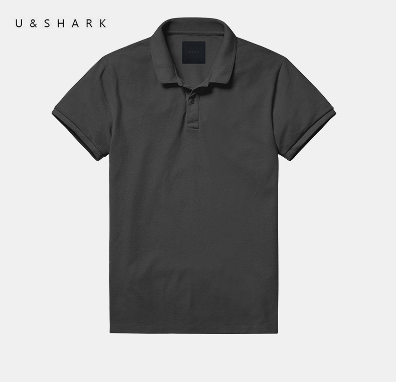 U&Shark Luxury 100% Cotton Classic   Polo   Shirt Slim Brand Men Clothing 2016 Summer New Fashion Short Sleeve Grey   Polo   Shirt Male