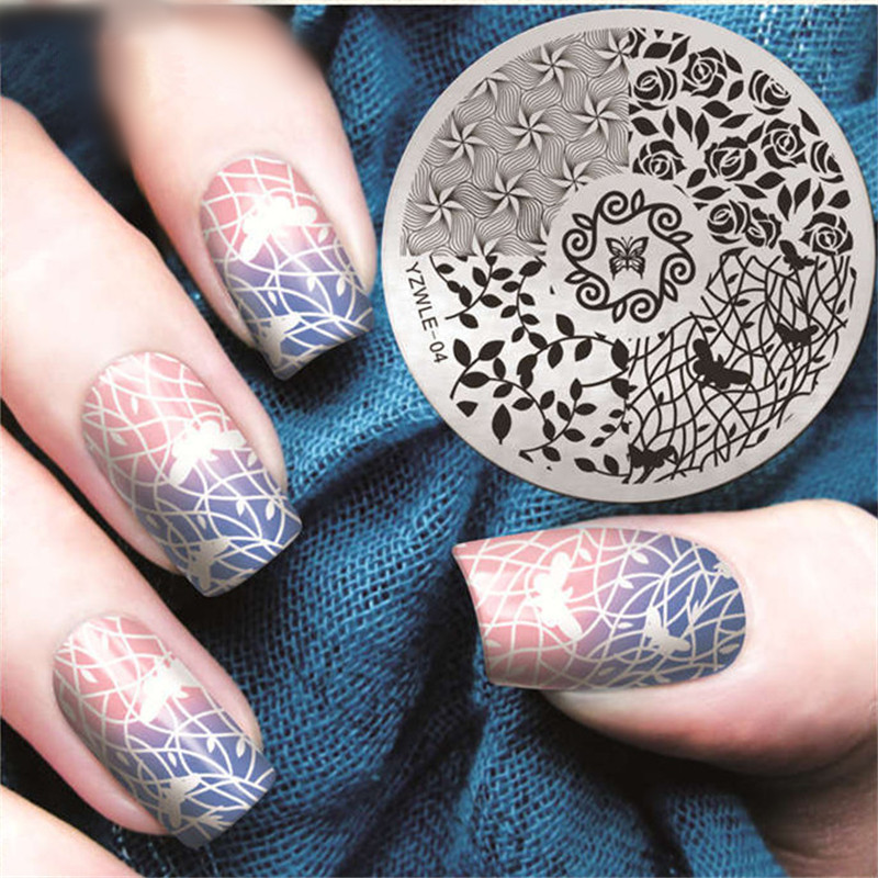 Rose Leaves Windmill Nail Stamping Plates Spring Nail Art Stamp ...