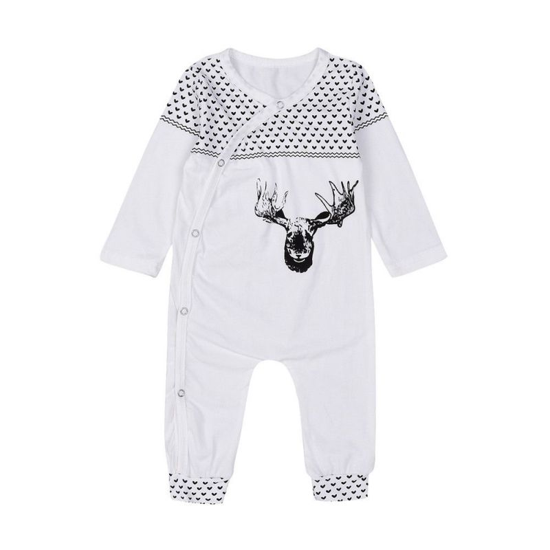 Newborn Baby Girl Boy Clothes Rompers Autumn Winter Long Sleeve Cotton Deer Romper Jumpsuit Playsuit Outfits 1 Pcs Suit 0-18M newborn baby rompers baby clothing 100% cotton infant jumpsuit ropa bebe long sleeve girl boys rompers costumes baby romper