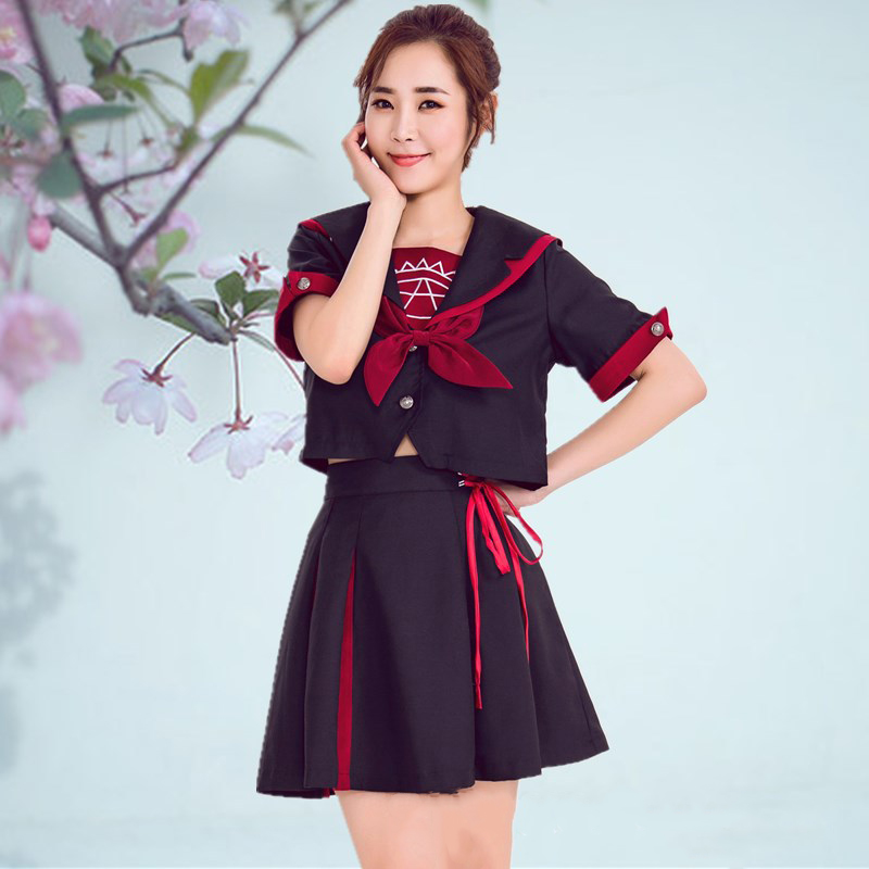 Japanese Magic Array Short-sleeved JK Uniform Sailor Suit Student Uniforms Class College Suit Women Cosplay
