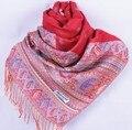 Мода Красный женщин Silk Пашмины Шали Шарф Обруча пчелы цветок Бесплатная Доставка Оптовая Торговля Розничная Торговля FF-XMF11