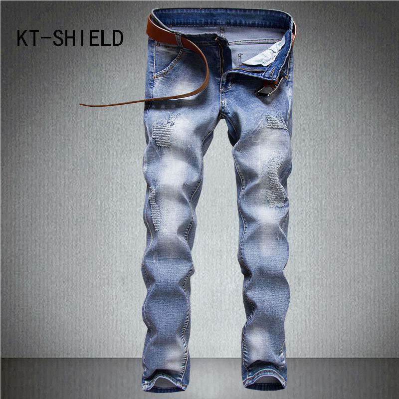biker mens skinny denim jeans distressed ripped straight casual Hip Hop pants man Cargo trousers pantalon mezclilla hombre mens casual elastic ripped drape denim hip hop slim fit distressed biker jeans pants black straight pencil trousers multi zipper