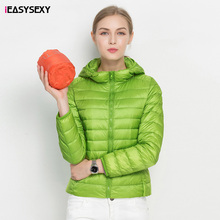 iEASYSEXY 2016 Solid 18 Colors Abrigo Mujer Invierno With Hat 90 White Duck Down Ultra Light