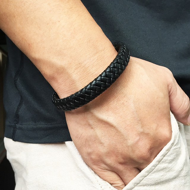 Men's Handmade Magnetic Clasp Leather Bracelets