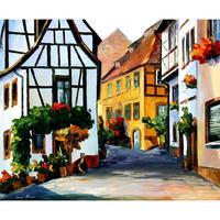 Pittura a olio della decorazione Germania città su per la collina paesaggio moderno di arte pitture murali su tela per soggiorno