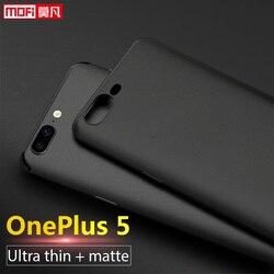 OnePlus 5 housse OnePlus 5 Coque Silicone givré Mofi Ultra mince One Plus A5000 Capas Tpu Coque arrière souple OnePlus 5