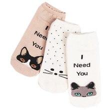 (3 Пар Упаковать) Женщины Носок Тапочки Прекрасный Мультфильм Panada Случайные Хлопчатобумажные носки Женщин Носки