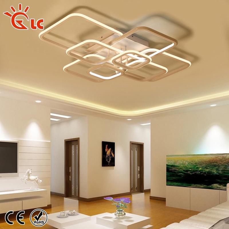 Modern Led Pendant Lamps Living Room Acrylic Fixture: LED Pendant Lights Aluminum Acrylic Ceiling Lamp Dimmable