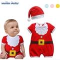 Nuevo 2016 Navidad Mamelucos Del Bebé de Algodón Recién Nacido Traje Ropa de Los Cabritos Niños ropa bebe Bebe Trajes pijama de Manga Corta de Verano