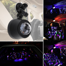Universal 12V Auto/Sound Activated 5500-6000K LED Automobile Decorative Lamp Car Interior Music Rhythm Light DJ Flash Lamp
