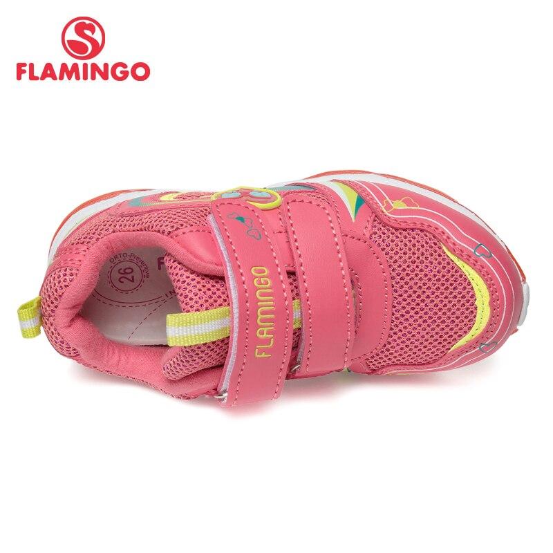 Кроссовки Фламинго для девочек 81K BK 0584, кожаная стелька, вид застежки липучка, подошва со светодиодами, для спорта и отдыха. - 2
