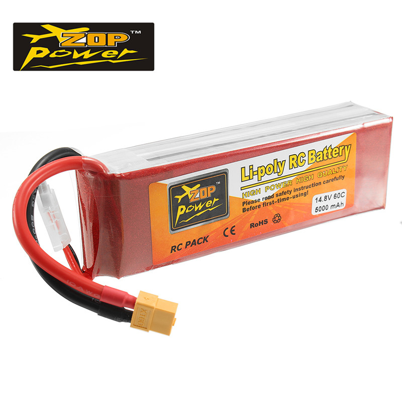 Original ZOP Power 14.8V 5000mAh 4S 60C Lipo Battery XT60 Plug Connector for RC Camera Drones FPV Quadcopter Accs Spare Parts