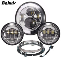 1 Set Harley Daymaker 7 LED Headlight With 4 5 Cree Led Fog Light For Harley