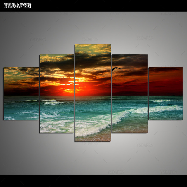 HD Printed Painting Canvas Printing Seascape painting Room decor print poster picture canvas Framed Art HG-059