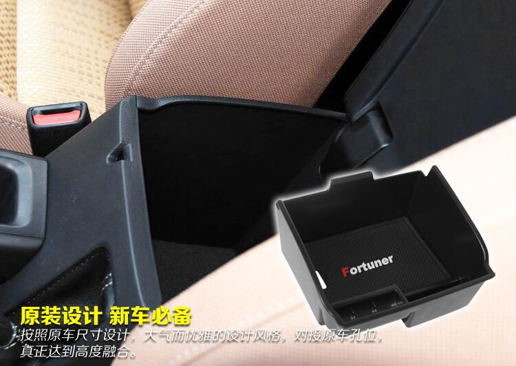 цена на Armrest Storage Box Fit For Toyota Fortuner An160 2016 2017 2018 Case Car Central Console Bin Tray Holder Organizer Container