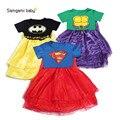 Niños de Halloween Jugar ropa Muchachas del vestido de verano de manga Corta lindo muchacha del niño trajes De Navidad traje de la princesa ropa tutu