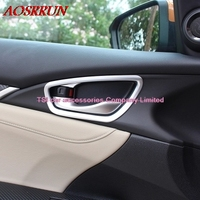 4 Pcs Set Car Styling Door Handle Bowl Cover Frame Interior Decoration ABS Chrome Trim For