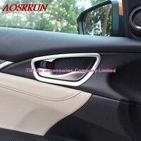 4 Pcs Set Car Styling Door Handle Bowl Cover Frame Interior Decoration ABS Chrome Trim For