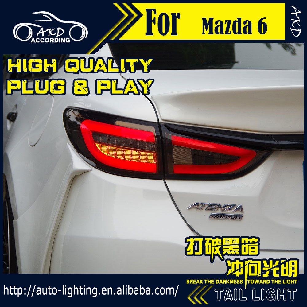 AKD Car Styling <font><b>Tail</b></font> Lamp for <font><b>Mazda</b></font> <font><b>6</b></font> <font><b>Tail</b></font> <font><b>Lights</b></font> Mazda6 Atenza <font><b>LED</b></font> <font><b>Tail</b></font> <font><b>Light</b></font> <font><b>LED</b></font> Signal <font><b>LED</b></font> DRL Stop Rear Lamp Accessories image