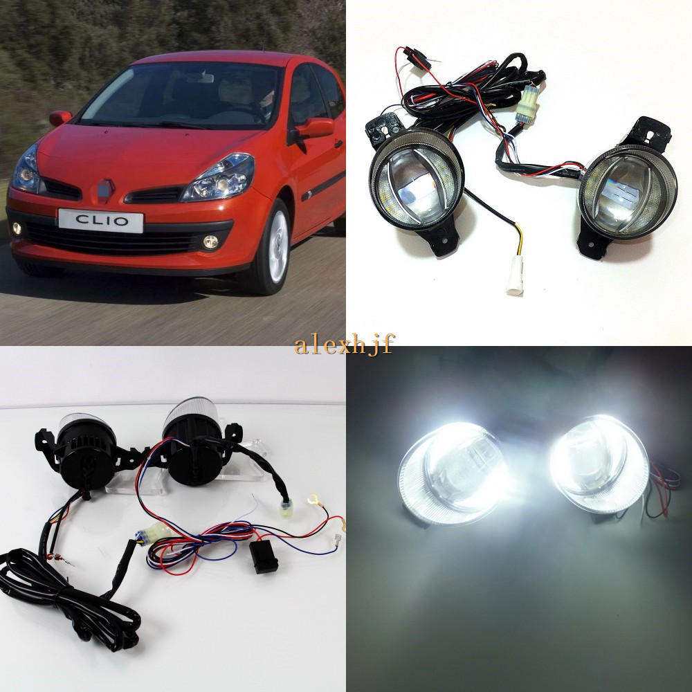 July King 1600LM 24W 6000K LED Light Guide Q5 Lens Fog Lamp+1000LM 14W Day Running Lights DRL Case for Renault Clio II III 01-09 july king 1600lm 24w 6000k led light guide q5 lens fog lamp 1000lm 14w day running lights drl case for ford focus ii iii 06 14