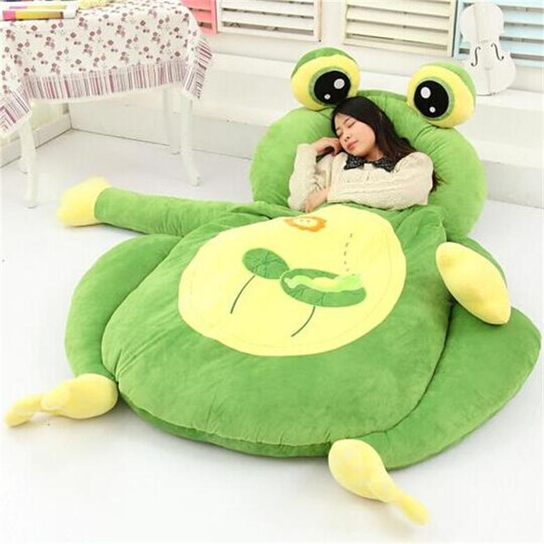 [Drôle] très mignon dessin animé sac de couchage doux animal grenouille singe ours chat lit tapis Tatami canapé tapis pouf en peluche jouet enfants cadeau