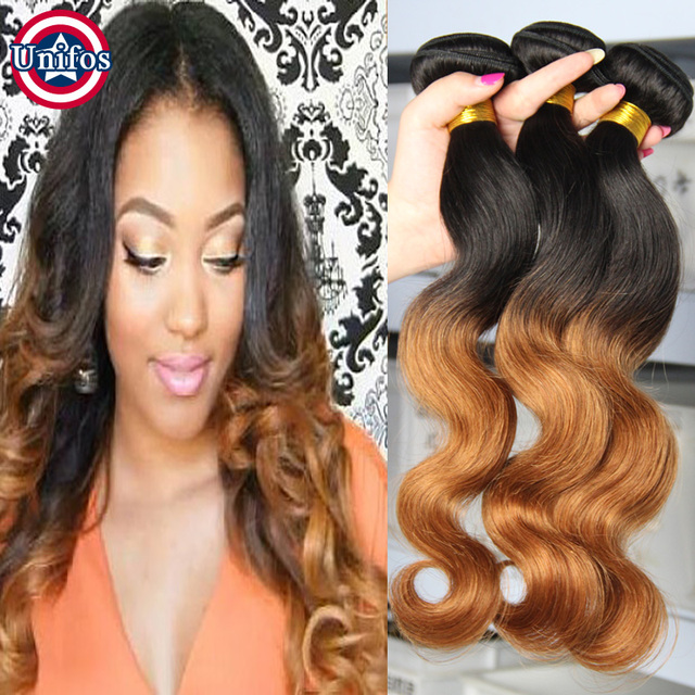Brazilian Ombre Hair Two Tone Locks 1B30 Body Wave Hair Style 5PCS Tissage  Bresilienne Ombre Hair Extensions Brown Hair Waves on Aliexpress.com | ...