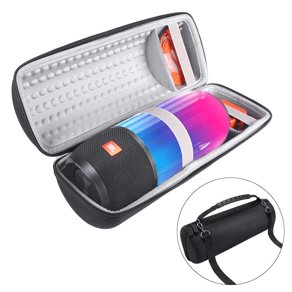 New EVA Carry Protective Speaker Box Pouch Cover Bag Case For JBL Pulse 3 Pulse3 Speaker-Extra Space for Plug&Cable(With Belt) leory portable speaker case for bose soundlink mini multilayer protective speaker bag pouch extra space for plug