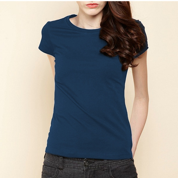 high quality plain blank t shirt for womens round neck daily casual
