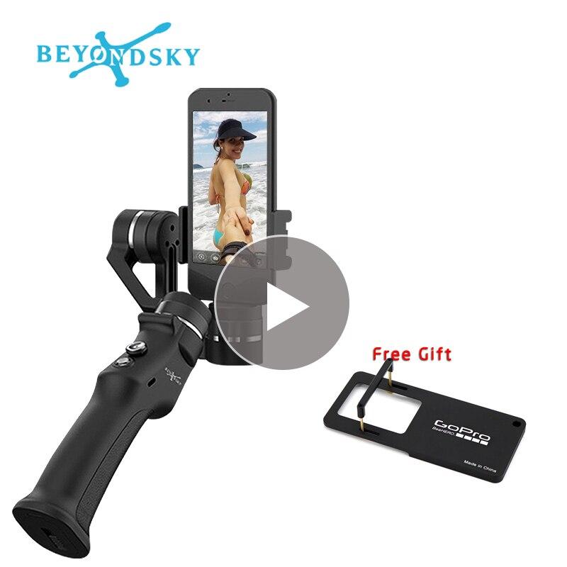 Beyondsky Eyemind Smartphone cardan portable avec adaptateur gratuit stabilisateur 3 axes pour caméra d'action VS Zhiyun lisse Q 4 iphone onex