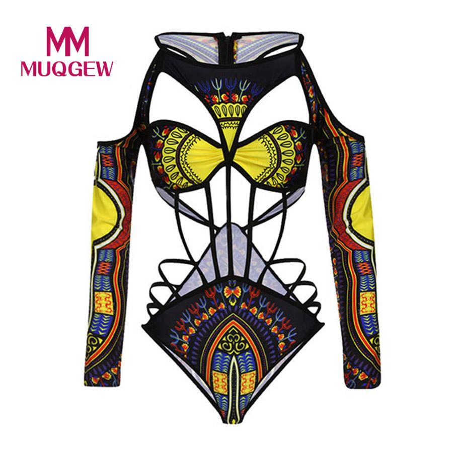 MUQGEW One Piece Swimsuit Swimwear Women 2018 Push Up Bathing Suit African Print Monokini Bodysuit Bandage Beach Wear Swim Suit floral two piece swimsuit women swimwear green leaf bodysuit beach bathing suit swim swimsuit push up monokini bathing wear 2017