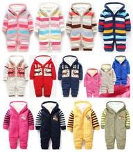 Détail garçons et filles hiver laine rembourré combinaison escalade vêtements livraison gratuite en stock