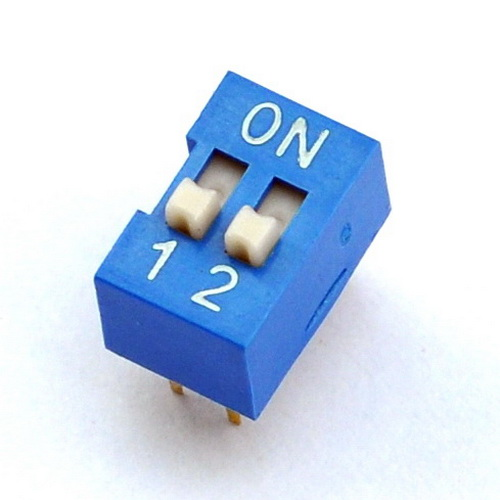 ( 10 Pcs/lot ) 2 Way DIP Switch, 2 Position 4 Pin PCB Mountable.